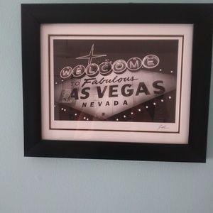 Target Wall Art - Framed las vegas sign from target home